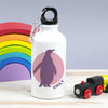 personalised penguin water bottle