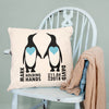 Personalised 'Holding Hands Since..' Penguin Cushion