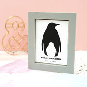 Personalised 'Granny And Me' Penguin Framed Print