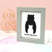 Personalised 'Mummy And Me' Penguin Framed Print