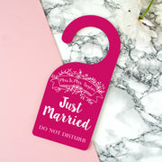 Personalised 'Just Married' Newlyweds Door Hanger
