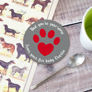 Personalised 'Pet Dad' Animal Lover Coaster