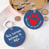 Personalised keyring for pet dad