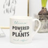 "Personalised 'Powered By Plants"" Vegan Coaster"