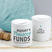 Personalised Prosecco Funds Money Box