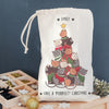 Personalised 'Purrfect Christmas' Mini Christmas Sack