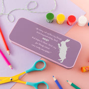 Children's Personalised White Rabbit Pencil Tin