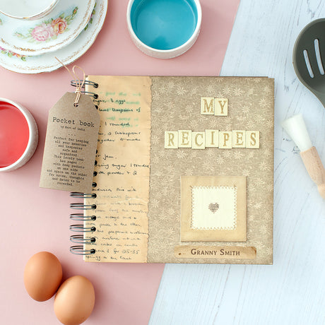 Personalised Vintage Style Recipe Book In Gift Box
