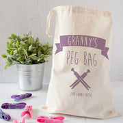 Personalised Retro Style Peg Bag