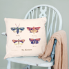 Personalised Vintage Butterfly Cushion