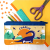 Personalised Indie Bay Dinosaur Fabric Pencil Case