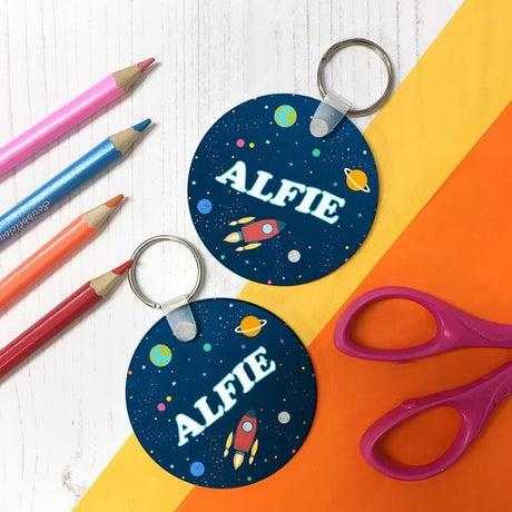 Children's Personalised Space Keyring
