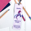 Personalised Stardust Unicorn Metal Bookmark