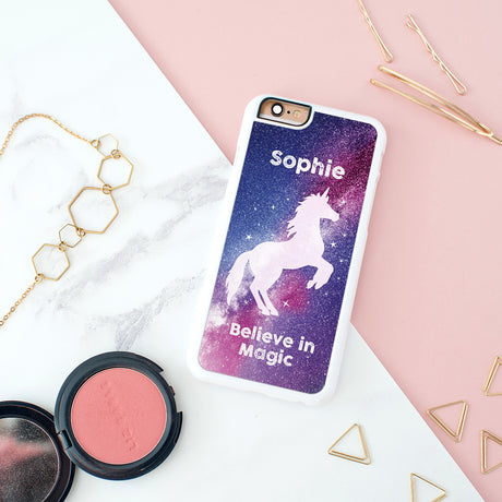 Personalised Stardust Unicorn iPhone Cover