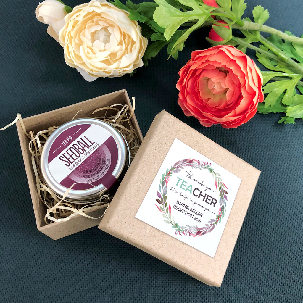 Personalised 'Thank You Tea-cher' Grow Your Own Tea Mix