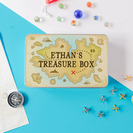 personalised treasure tin
