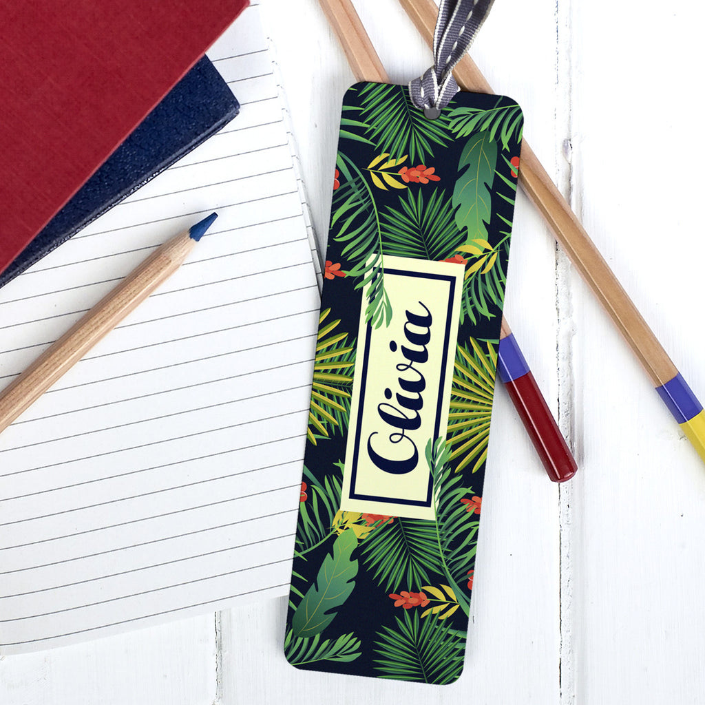 Personalised Tropical Bookmark