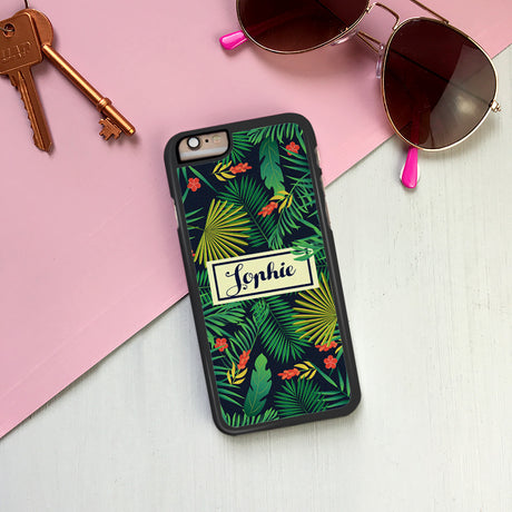Personalised Tropical Paradise iPhone Cover