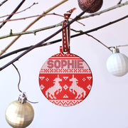Personalised Unicorns Cross Stitch Jumper Bauble