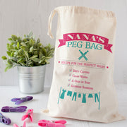 peg bag personalised