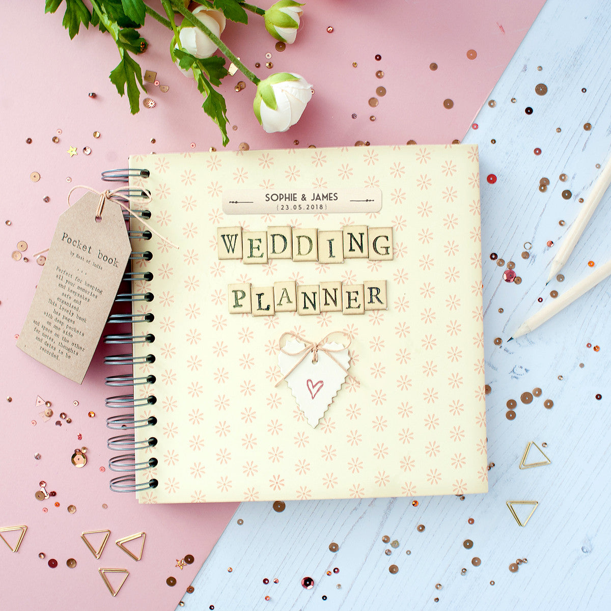 Personalised Retro Wedding Planner Journal In Gift Box   The Little ...