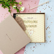 Personalised Retro Wedding Planner Journal In Gift Box
