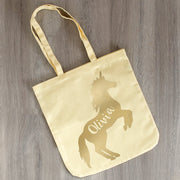 Personalised Golden Unicorn Tote Bag