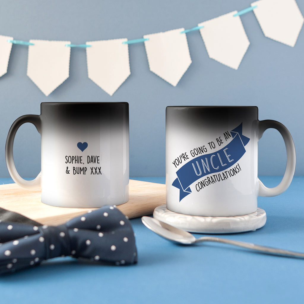 Personalised 'Uncle To Be' Secret Colour Changing Mug