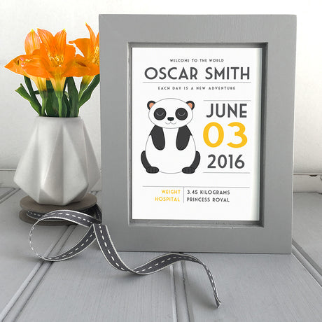 Personalised New Baby Framed Print