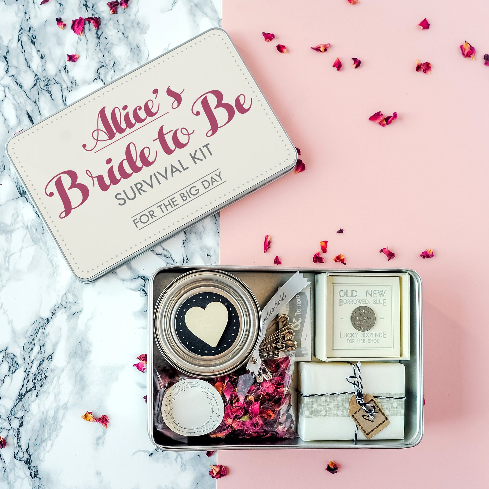 7a83d04e577 Personalised  Bride To Be  Survival Kit – The Little Picture Company