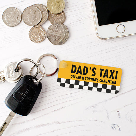Personalised 'Dad's Taxi' Keyring