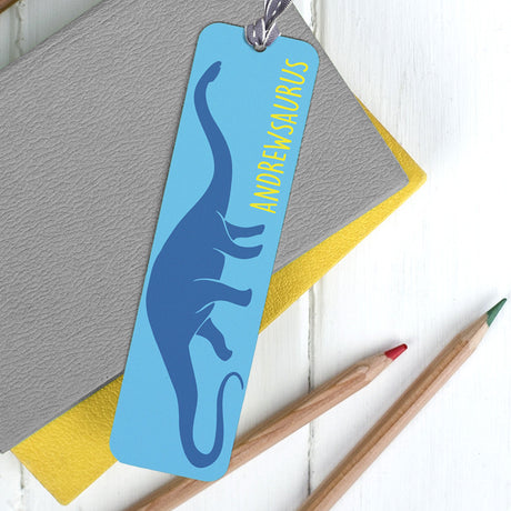 personalised dinosaur bookmark