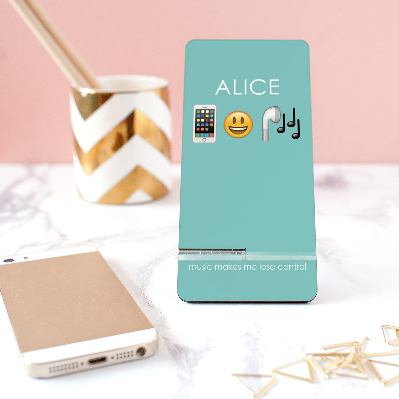 Personalised Music 'Emoji' Mobile Phone Rest – The Little Picture
