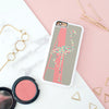 Personalised Monogram Flamingo Silhouette iPhone Cover