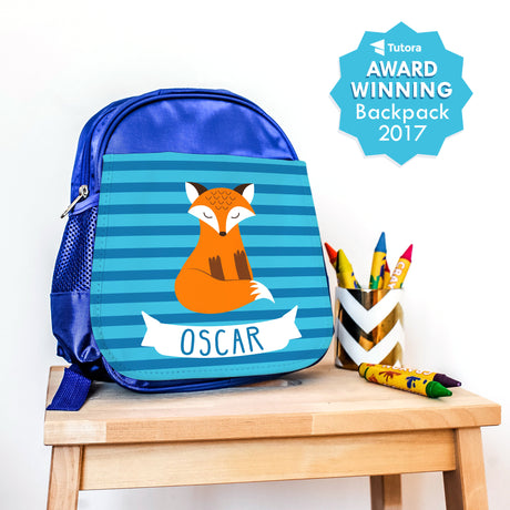 Boy's Personalised Clever Fox Mini Backpack