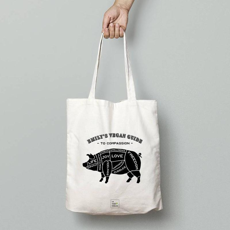 Personalised 'Guide to Compassion' Vegan Tote Bag