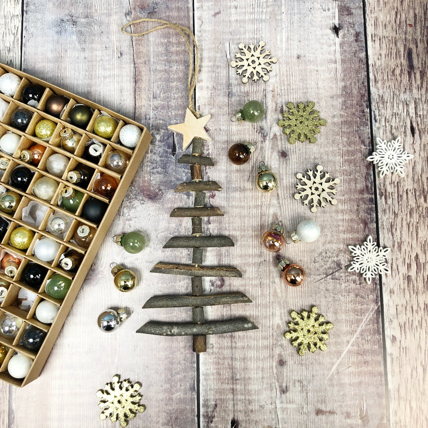 Mini Nordic Rope Ladder Hanging Christmas Tree No Wooden Ornaments