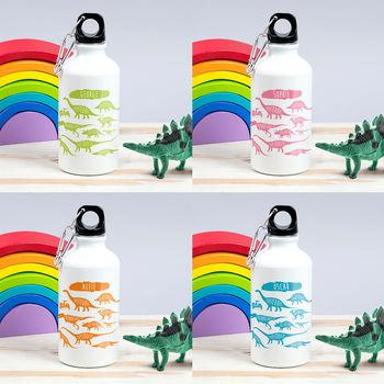 f73aa50e75 Children's Personalised Dinosaurs Chart Water bottle – The Little ...