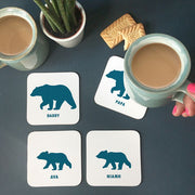 Personalised Bear Family Coaster Set