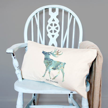 Personalised Arctic Marble Animal Silhouette Cushion