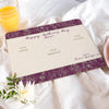 Personalised Mother's Day Breakfast In Bed Placemat