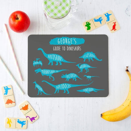 Personalised Dinosaurs Placemat And Coaster Set