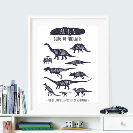 Dinosaur art for children - navy blue