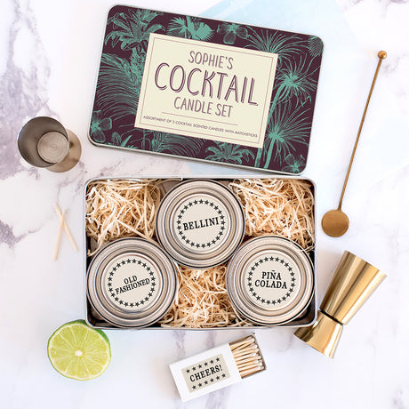 Personalised Tropical Cocktail Scented Candle Kit