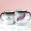 Personalised 'Auntie To Be' Secret Colour Changing Mug
