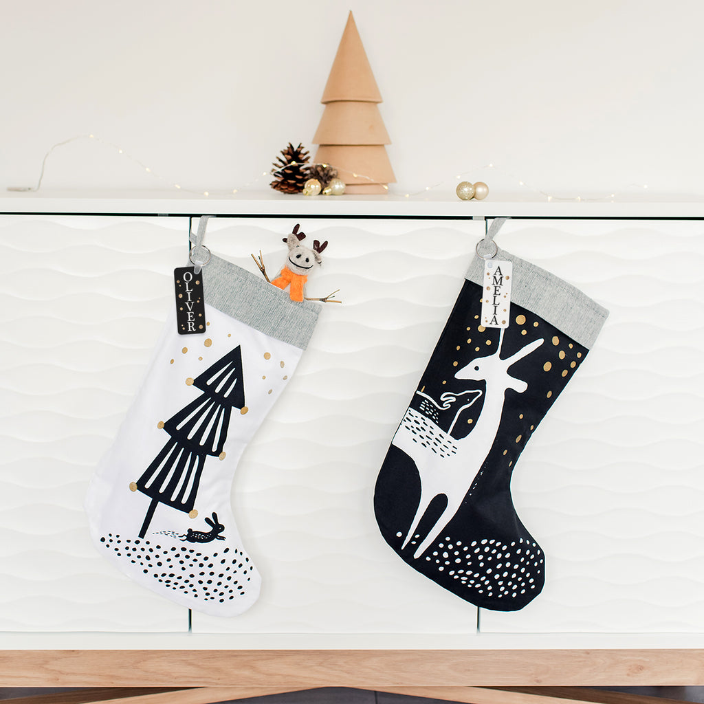 Personalised Scandi Style Christmas Stocking 50% Off