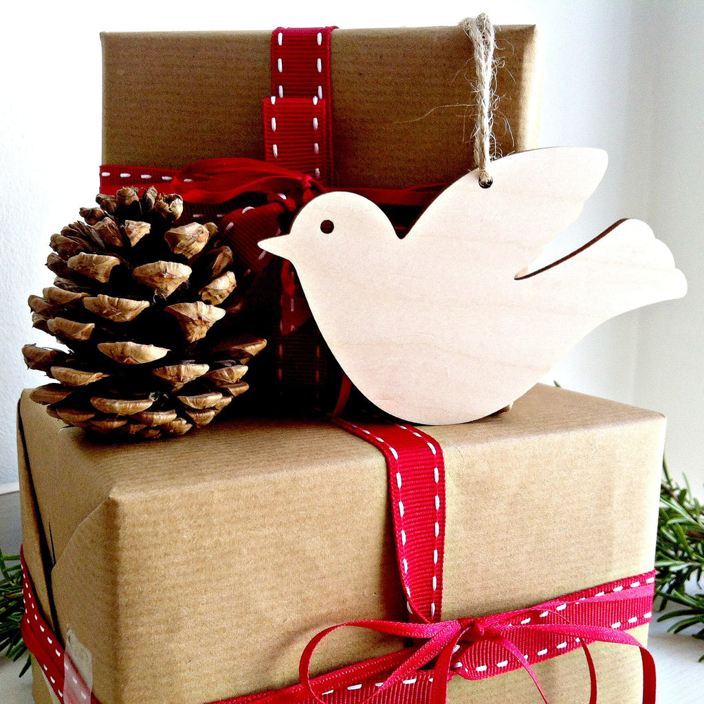 Wooden Paint Your Own Dove Decoration