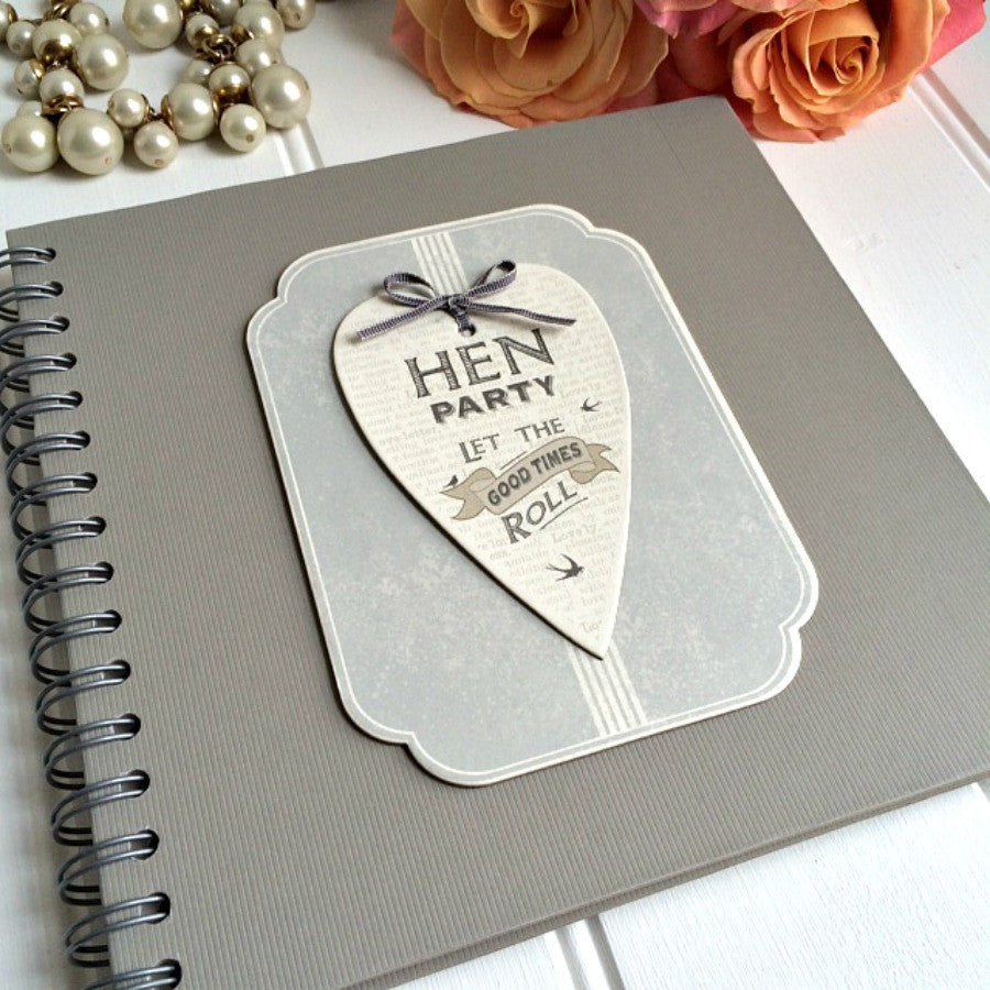personalised hen party guest book and keepsake album the little