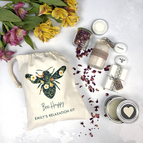 'Bee Happy' Relaxation Kit In Canvas Pouch
