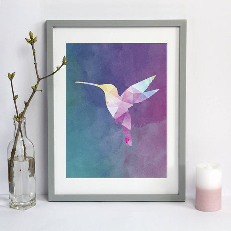 watercolour hummingbird print